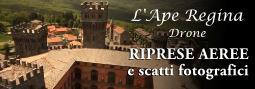 Riprese aeree del castello di Torre Alfina effettuate con drone