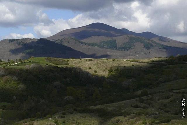 Il Monte Amiata e le sue rigogliose pendici
