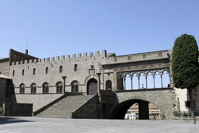 Il Palazzo dei Papi della città medievale di Viterbo